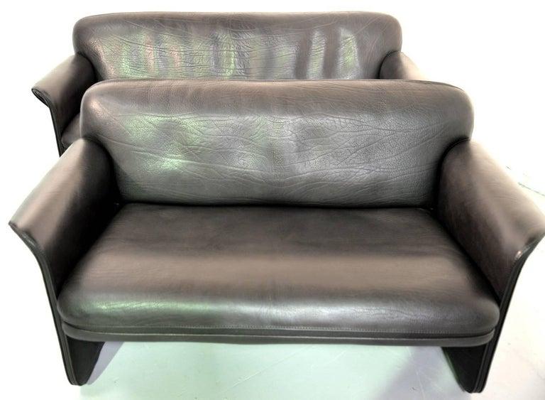Late 20th Century Vintage Swiss De Sede DS 125 Sofas Designed by Gerd Lange, 1978 For Sale