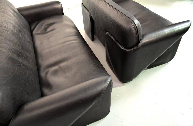 Leather Vintage Swiss De Sede DS 125 Sofas Designed by Gerd Lange, 1978 For Sale