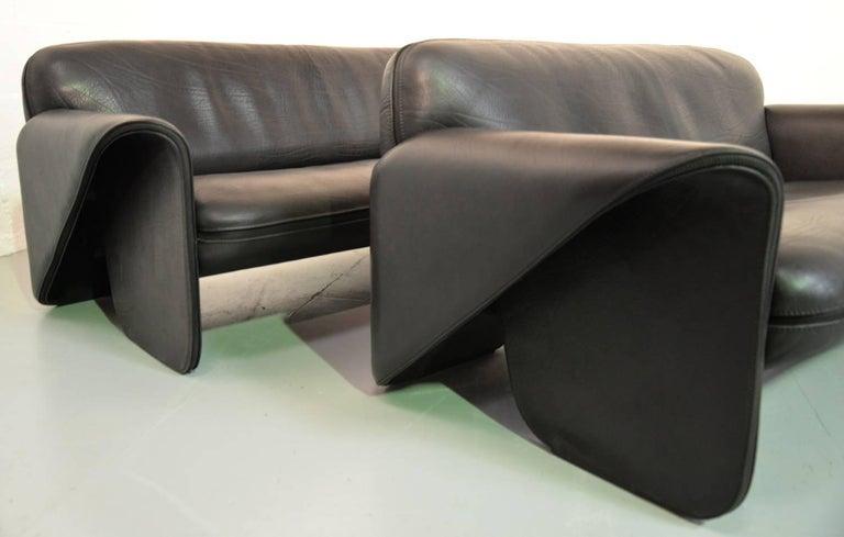 Mid-Century Modern Vintage Swiss De Sede DS 125 Sofas Designed by Gerd Lange, 1978 For Sale