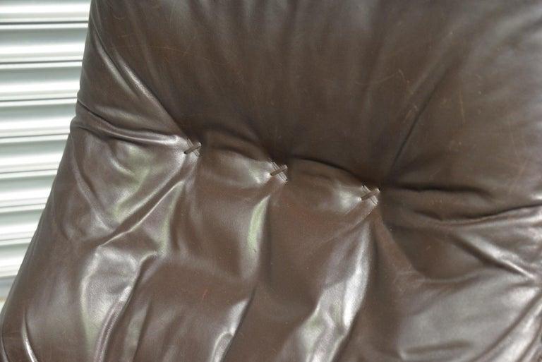 Vintage De Sede S 231 James Bond Swivel Lounge Armchair and Ottoman, 1960s For Sale 8
