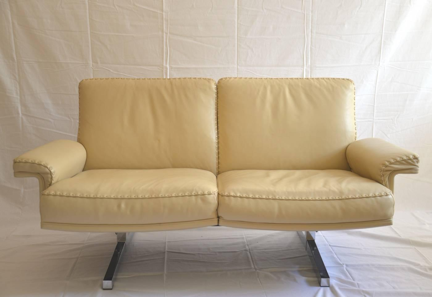 Vintage De Sede Two Seat Loveseat And Matching Swivel Armchair 1970s For Sale At 1stdibs