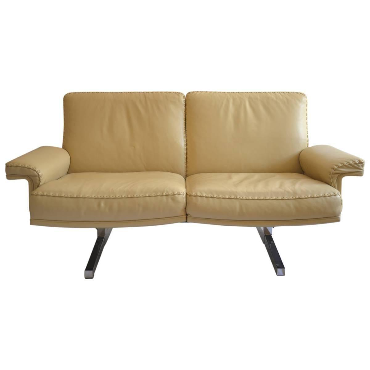 Vintage De Sede Ds 35 Two Seat Loveseat And Swivel Armchair 1970s For Sale At 1stdibs