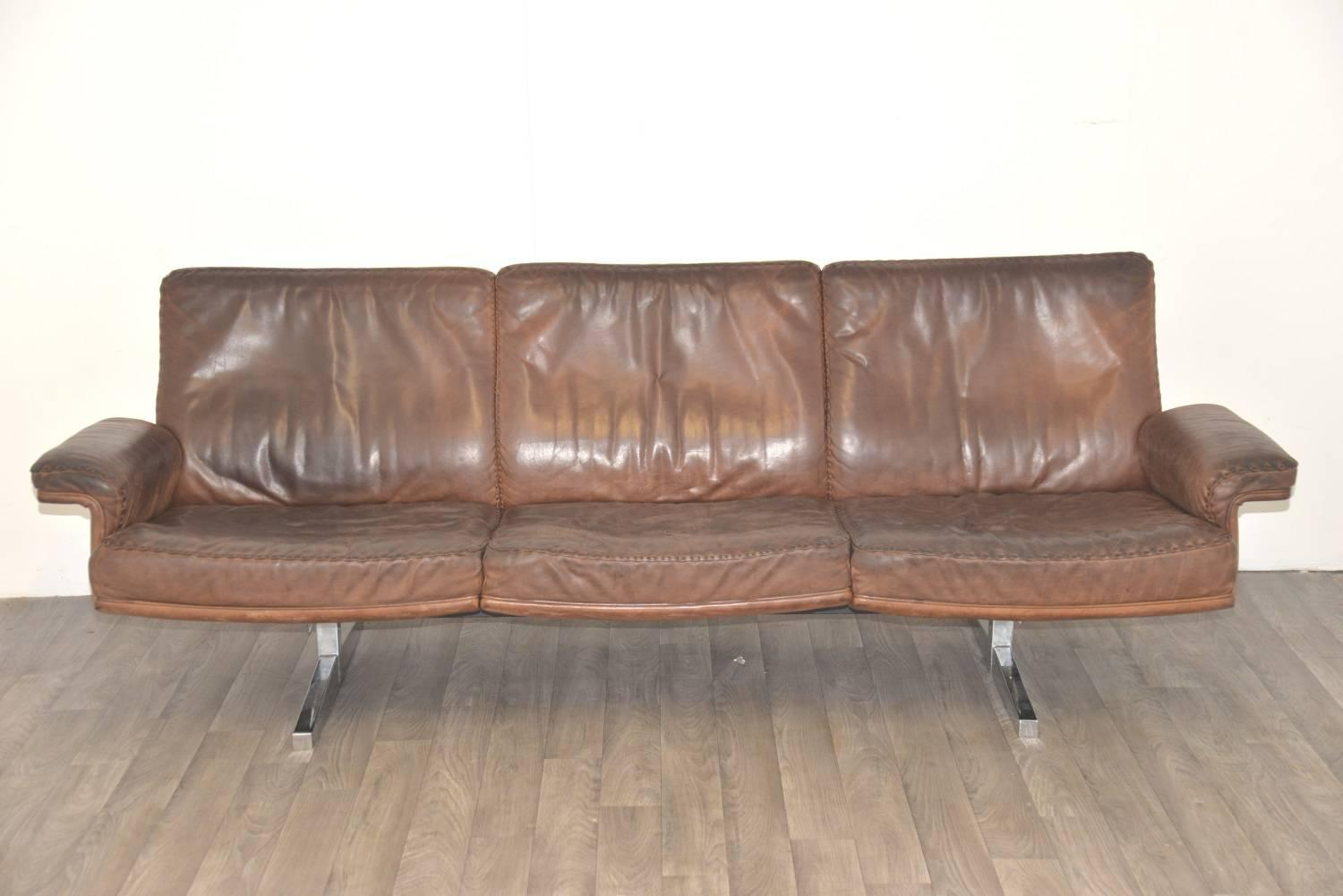 Vintage de sede ds 35 three seat sofa and lounge club Sofa depth
