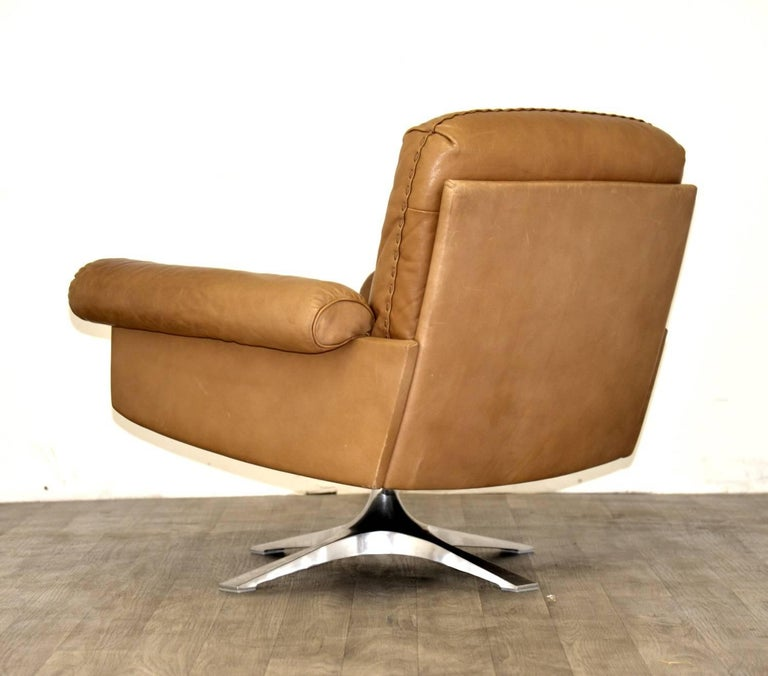 Mid-Century Modern Vintage De Sede DS 31 Sofa and Swivel Lounge Club Armchair, Switzerland 1970s For Sale