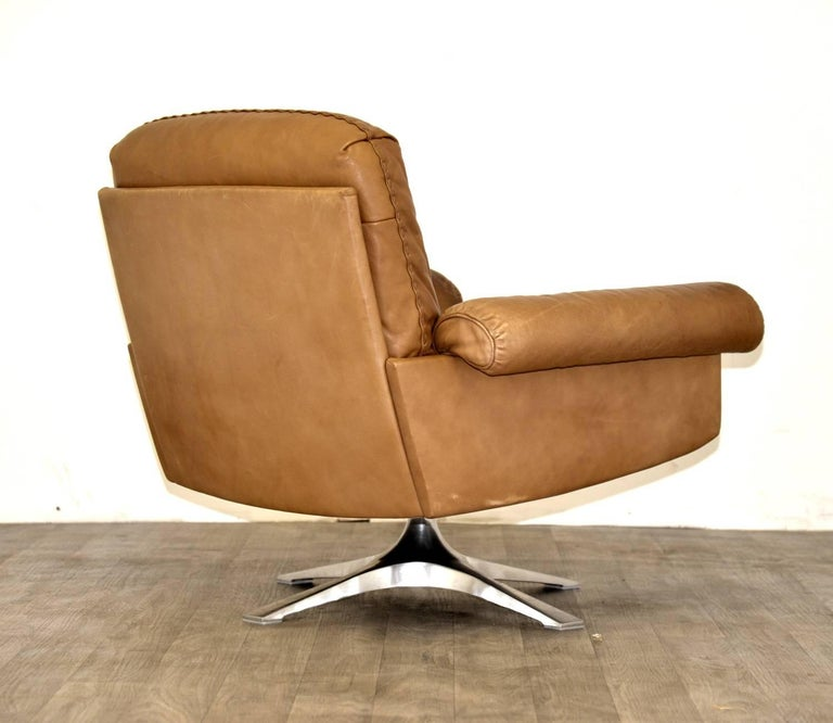 Swiss Vintage De Sede DS 31 Sofa and Swivel Lounge Club Armchair, Switzerland 1970s For Sale