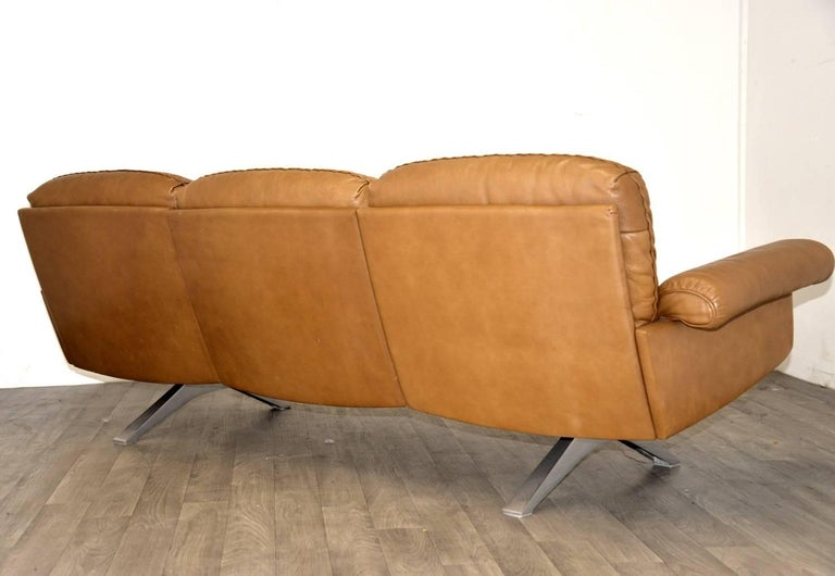 Vintage De Sede DS 31 Sofa and Swivel Lounge Club Armchair, Switzerland 1970s For Sale 1