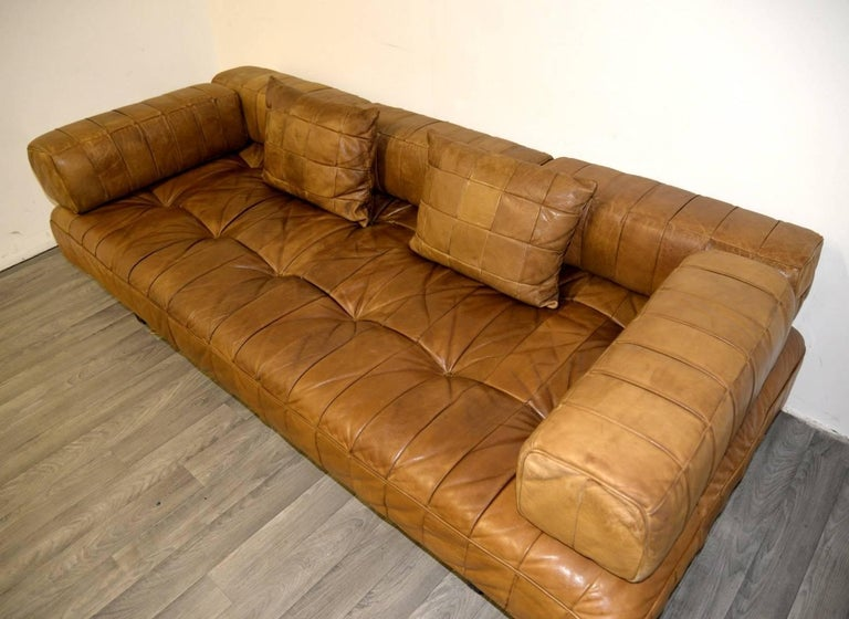 Vintage Swiss De Sede DS 80 leather Daybed, 1960s 4