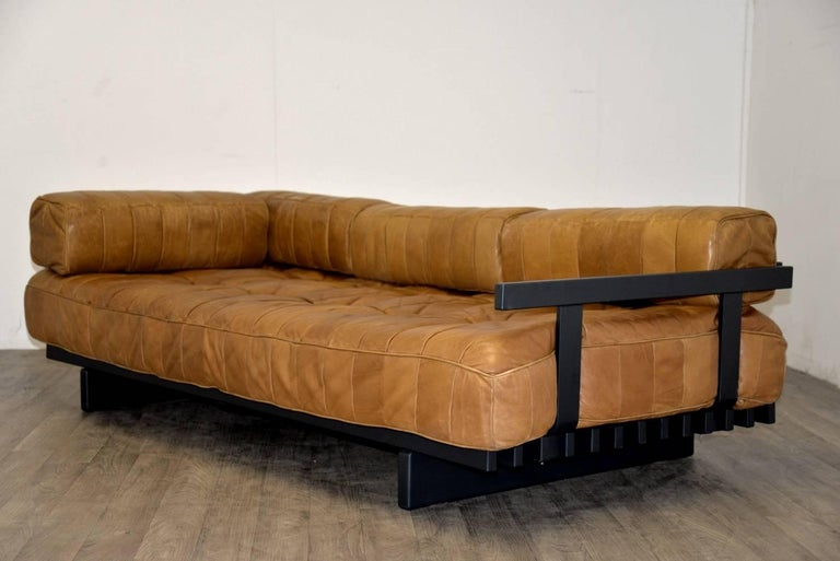 Vintage Swiss De Sede DS 80 leather Daybed, 1960s 5