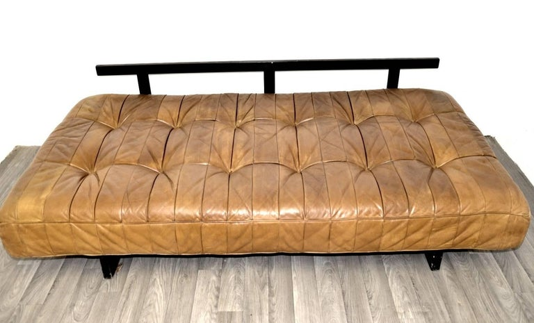 Vintage Swiss De Sede DS 80 leather Daybed, 1960s 8