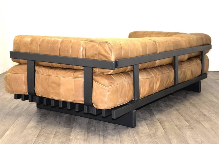 Vintage Swiss De Sede DS 80 leather Daybed, 1960s 7