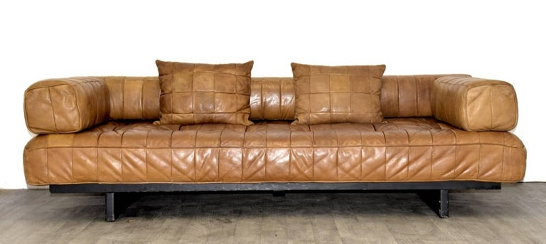 Vintage Swiss De Sede DS 80 leather Daybed, 1960s 2
