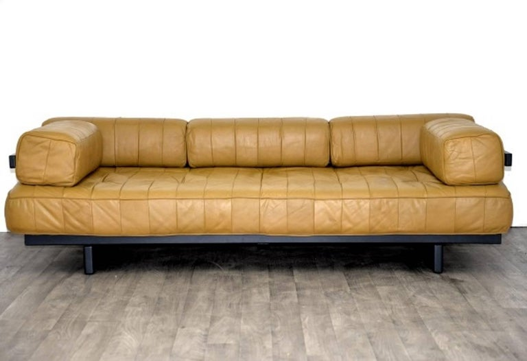 Vintage Swiss de Sede DS 80 leather Daybed, 1960`s 2