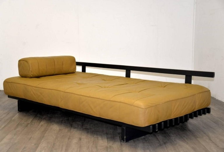 Vintage Swiss de Sede DS 80 leather Daybed, 1960`s 8