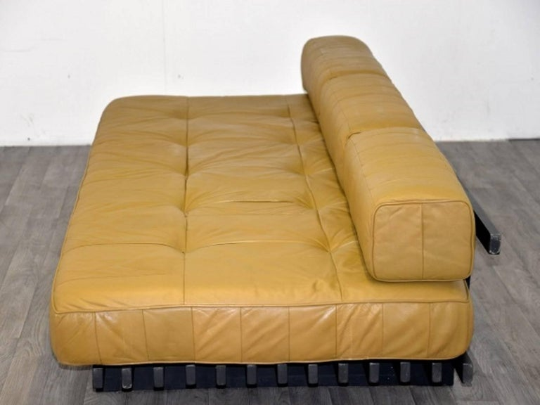 Vintage Swiss de Sede DS 80 leather Daybed, 1960`s 6