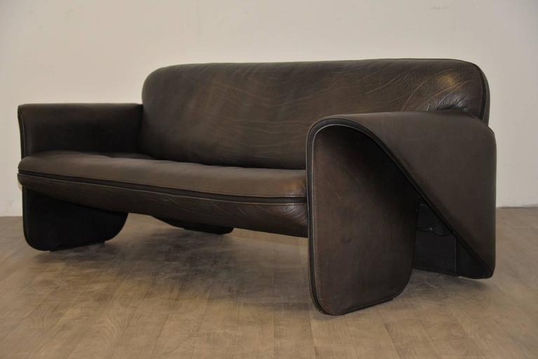 Vintage Swiss de Sede 'DS 125' Sofa and Armchair Designed by Gerd Lange, 1978 2