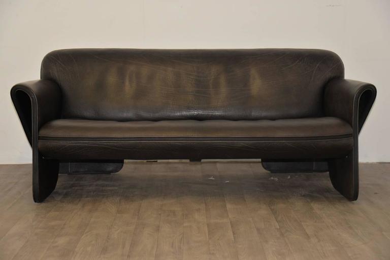 Vintage Swiss de Sede 'DS 125' Sofa and Armchair Designed by Gerd Lange, 1978 3