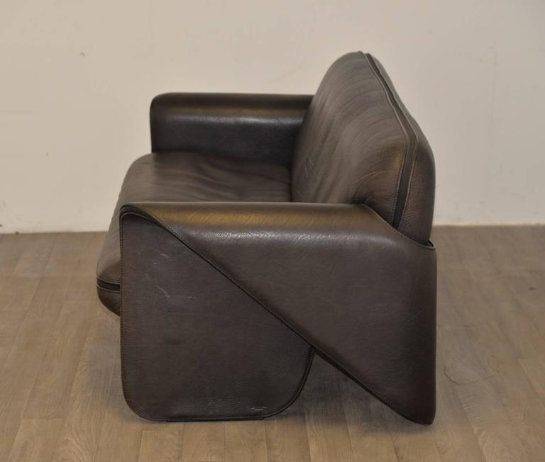 Vintage Swiss de Sede 'DS 125' Sofa and Armchair Designed by Gerd Lange, 1978 5