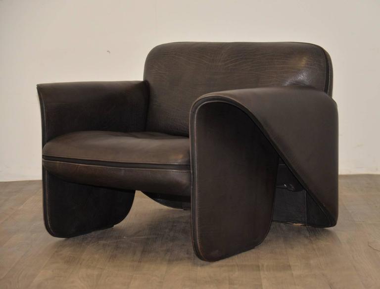 Vintage Swiss de Sede 'DS 125' Sofa and Armchair Designed by Gerd Lange, 1978 6