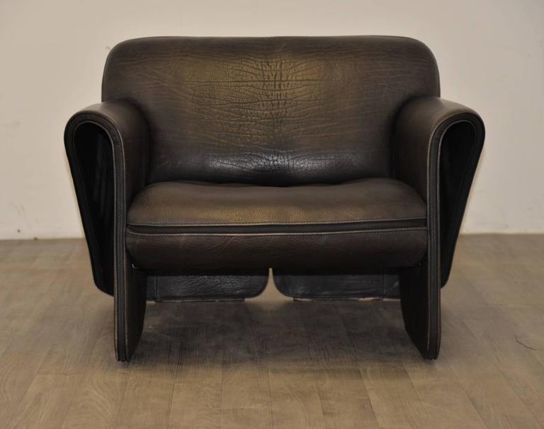 Vintage Swiss de Sede 'DS 125' Sofa and Armchair Designed by Gerd Lange, 1978 9