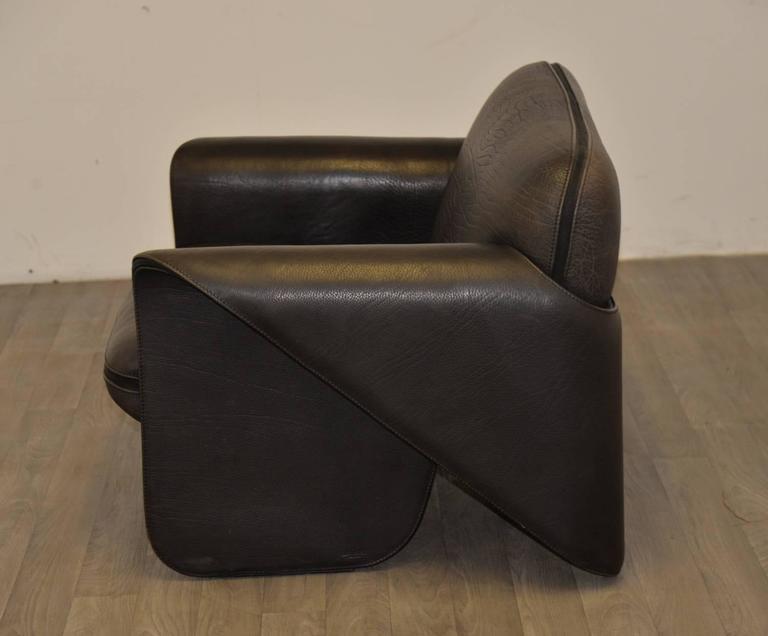 Vintage Swiss de Sede 'DS 125' Sofa and Armchair Designed by Gerd Lange, 1978 7