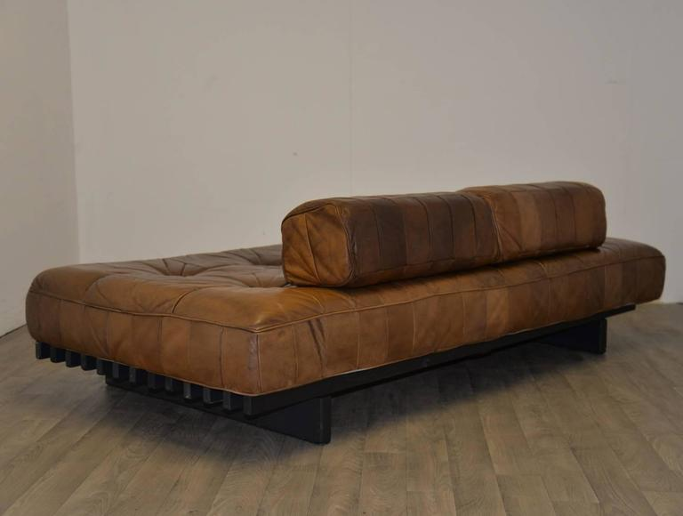 Vintage Swiss de Sede DS 80 Leather Daybed, 1960s For Sale 2