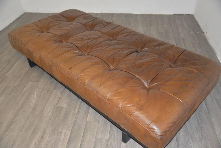 Vintage Swiss de Sede DS 80 Leather Daybed, 1960s 9