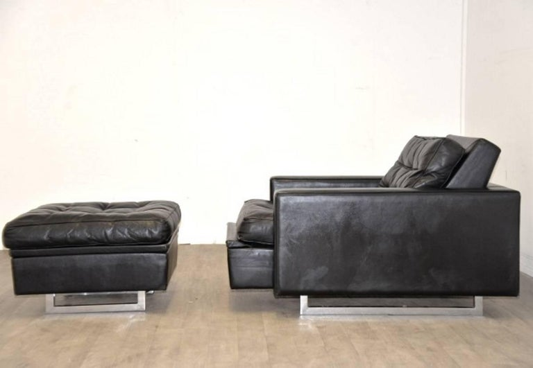 """Vintage de Sede DS 3A """"New Yorker"""" Armchair and Ottoman, 1970s 3"""