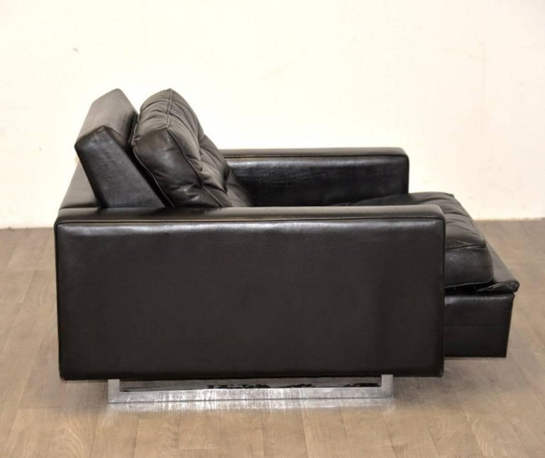 """Vintage de Sede DS 3A """"New Yorker"""" Armchair and Ottoman, 1970s 7"""