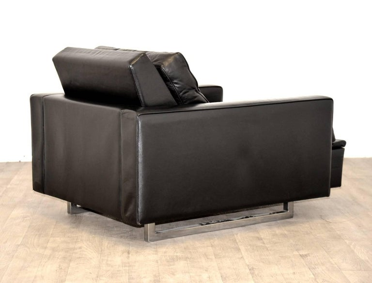 """Late 20th Century Vintage de Sede DS 3A """"New Yorker"""" Armchair and Ottoman, 1970s For Sale"""