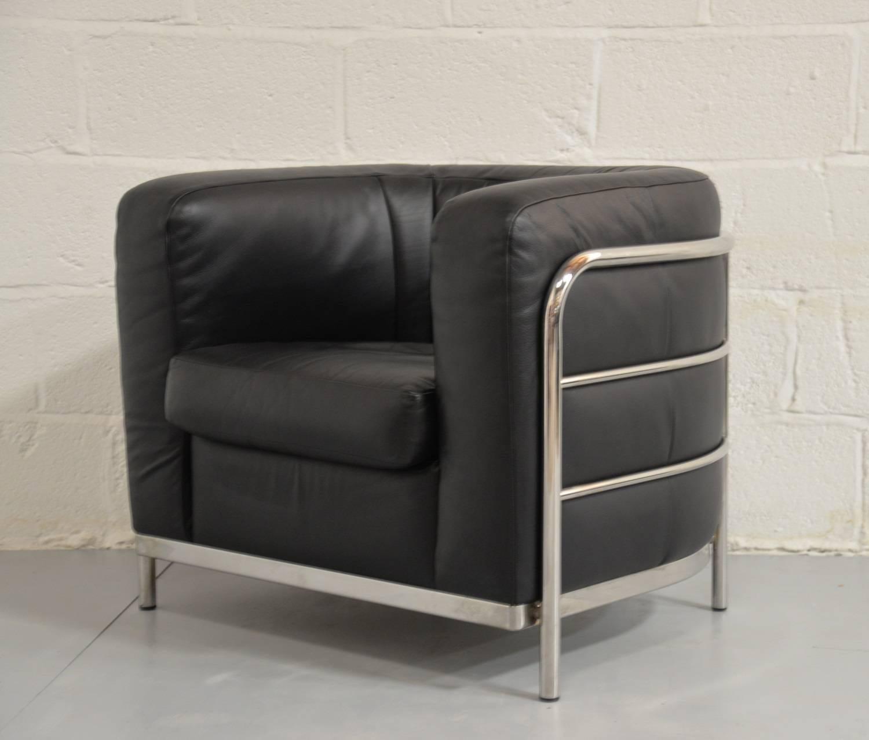 Original Zanotta Onda Leather Lounge Armchair Designed by Paolo