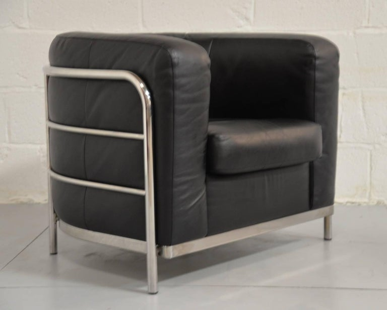 Original Zanotta Onda Leather Lounge Armchair Designed by Paolo Lomazzi, 1985 7