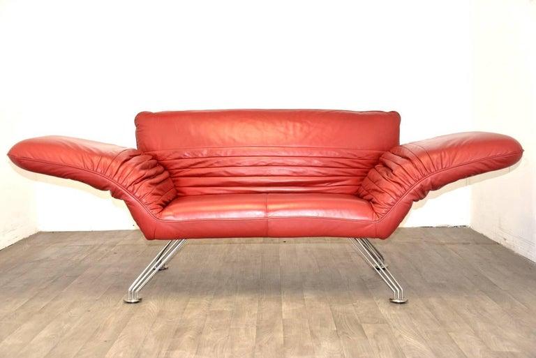 Vintage swiss de sede sofa or chaise longue by winfried - Medidas de sofas chaise longue ...