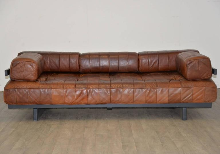 Vintage Swiss De Sede Ds 80 Leather Daybed, 1960s 3