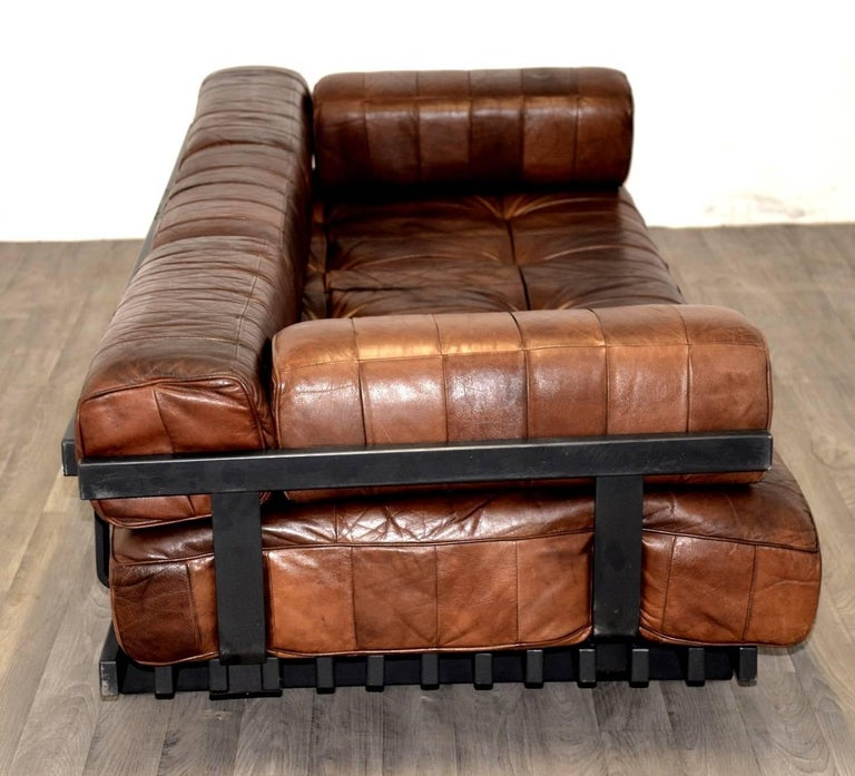 Vintage Swiss De Sede Ds 80 Patchwork Leather Daybed, 1960s In Good Condition For Sale In Cambridgeshire, GB