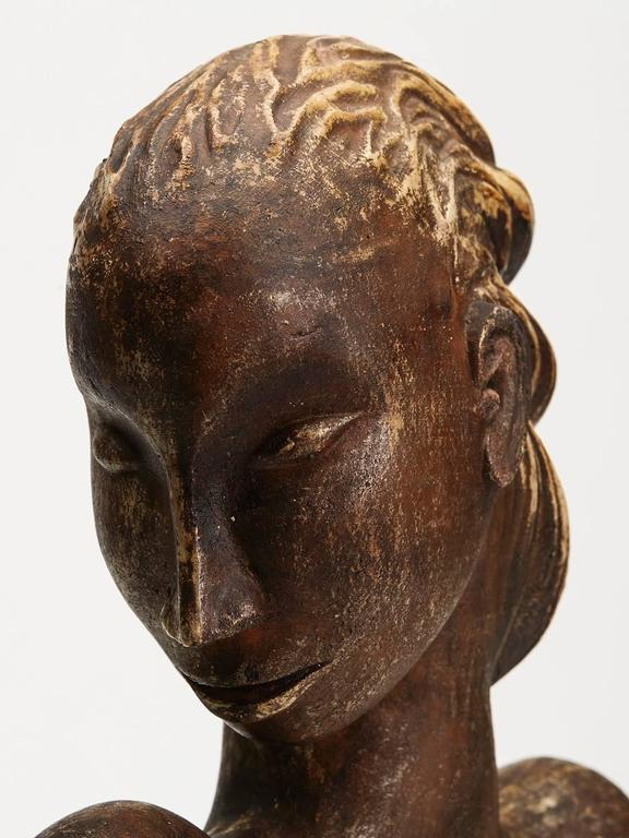 Large Continental Sculptural Pottery Bust, 20th Century In Good Condition For Sale In Bishop's Stortford, Hertfordshire