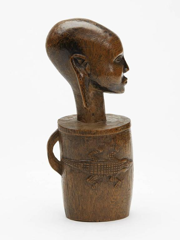 African massai wooden figural carving early th century