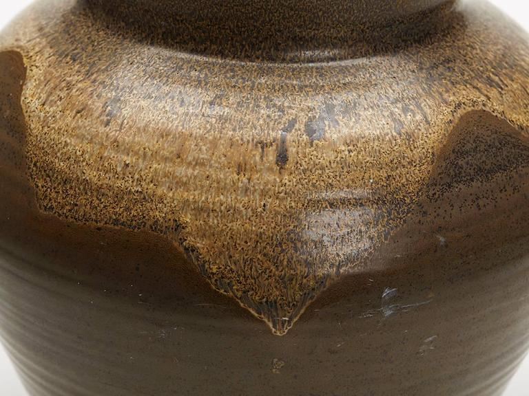Poole Pottery Substantial Lava Glazed Pottery Vase Circa