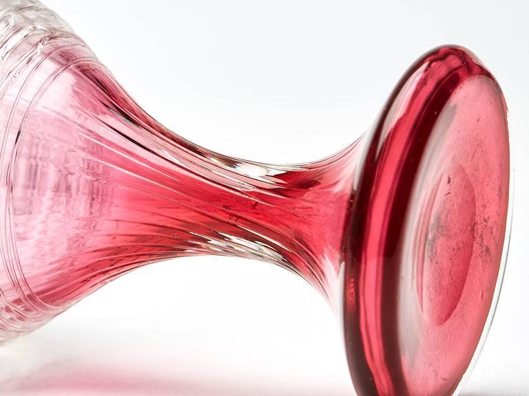 Pair Of Kralik Art Glass Hyacinth Bud Shape Vases Circa