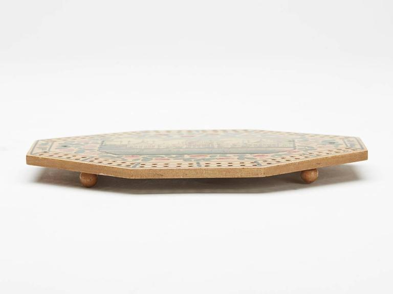 Georgian Brighton Pavilion Cribbage Board, circa 1800 For Sale 1