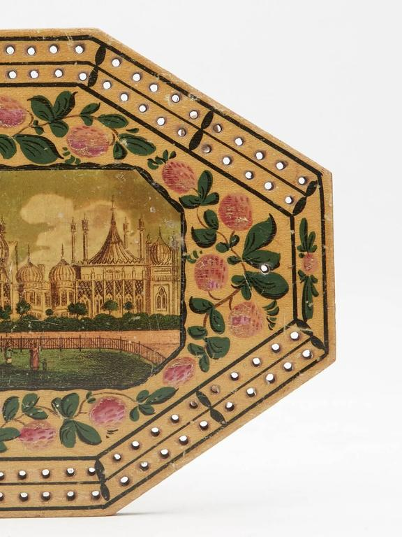 Wood Georgian Brighton Pavilion Cribbage Board, circa 1800 For Sale