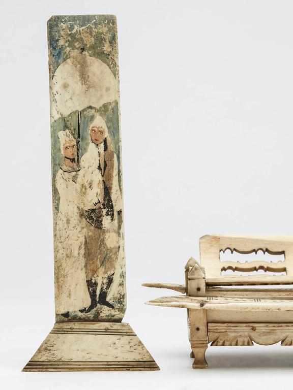 19th Century Napoleonic Prisoner of War Games Box, circa 1800 For Sale