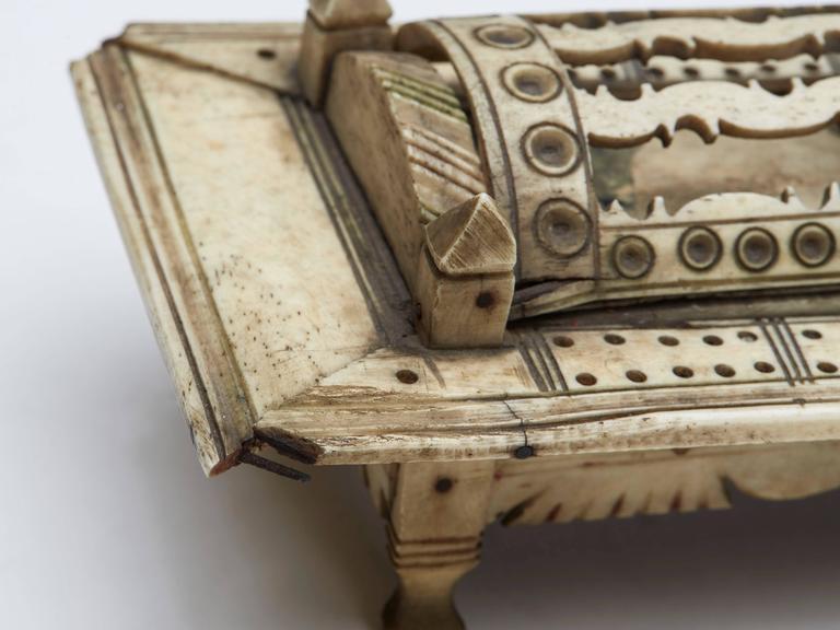 Napoleonic Prisoner of War Games Box, circa 1800 For Sale 2