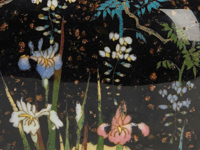 Japanese Meiji Cloisonne Lidded Jar , 19th Century For Sale 4