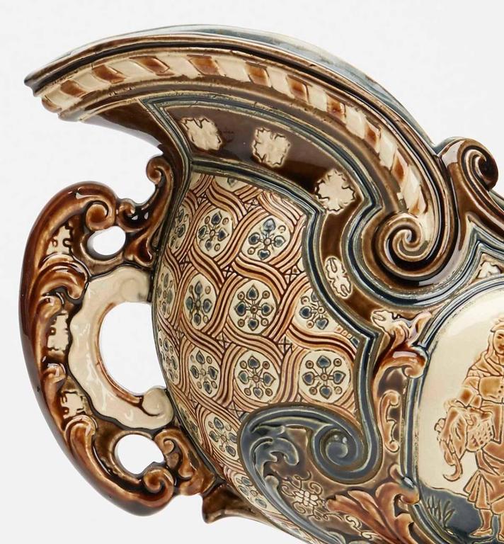 Earthenware Gerbing & Stephan Majolica Console Bowls, 19th Century
