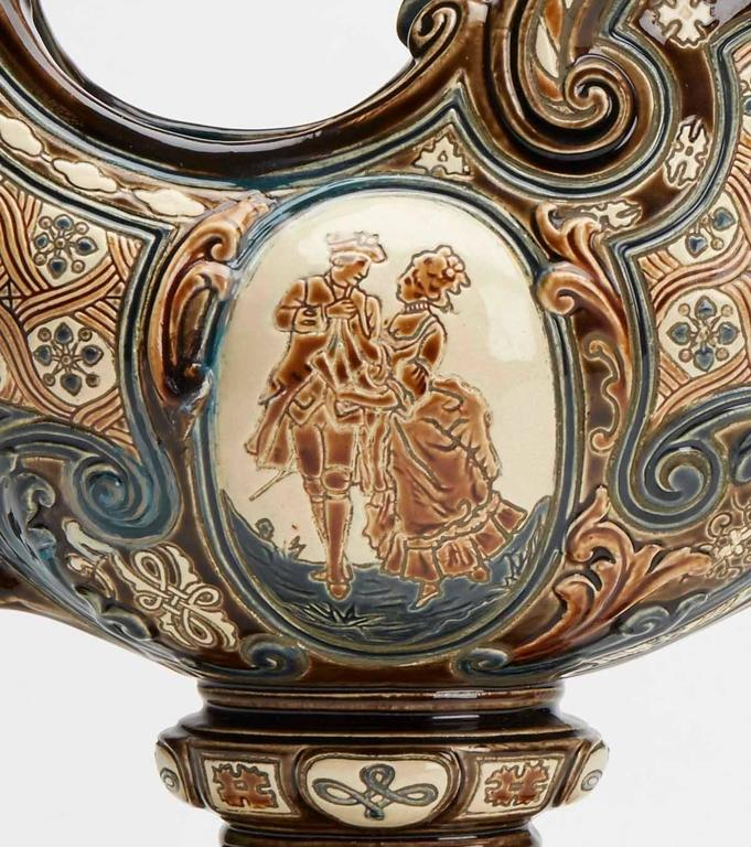 Gerbing & Stephan Majolica Console Bowls, 19th Century 1