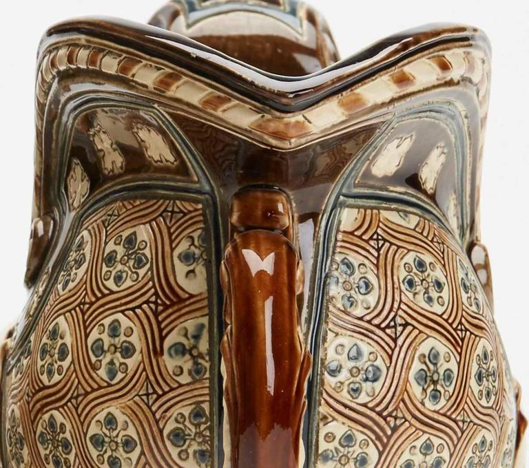 Gerbing & Stephan Majolica Console Bowls, 19th Century 2