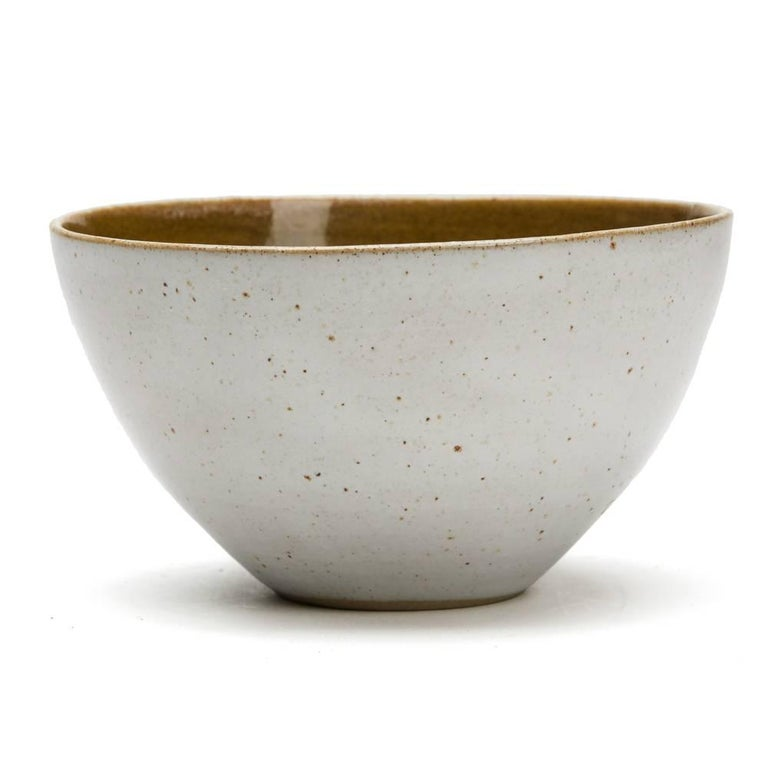 Great Britain (UK) Lucie Rie & Hans Coper Studio Pottery Mustard Glazed Bowl For Sale