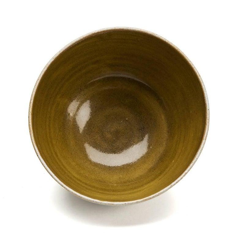 Lucie Rie & Hans Coper Studio Pottery Mustard Glazed Bowl In Excellent Condition For Sale In Bishop's Stortford, Hertfordshire