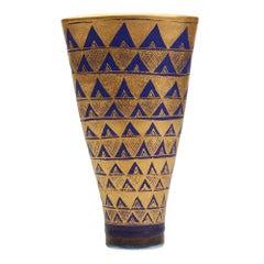 Mary Rich Studio Pottery Geometric Design Vase 20th C.
