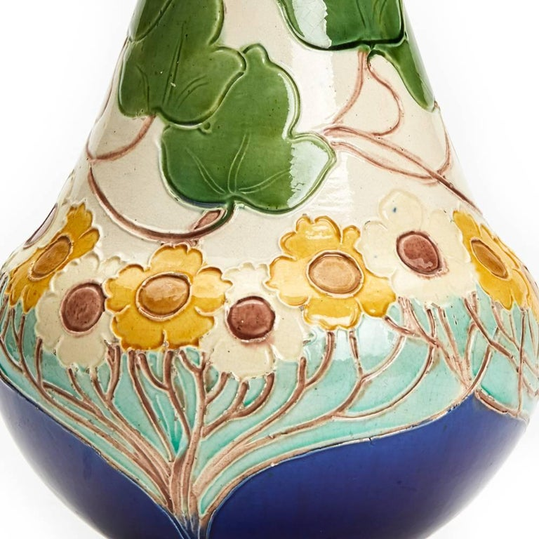 Burmantofts Faience Partie-Colour Vase by Joseph Walmsley For Sale 1